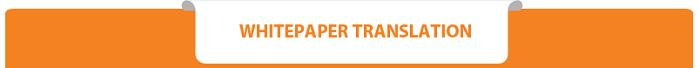 ICO Whitepaper Translation Services